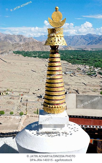Chorten at Thikse gompa ; Leh ; Ladakh ; Jammu and Kashmir ; India
