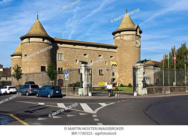 Morges Castle, Morges, canton of Vaud, Switzerland, Europe