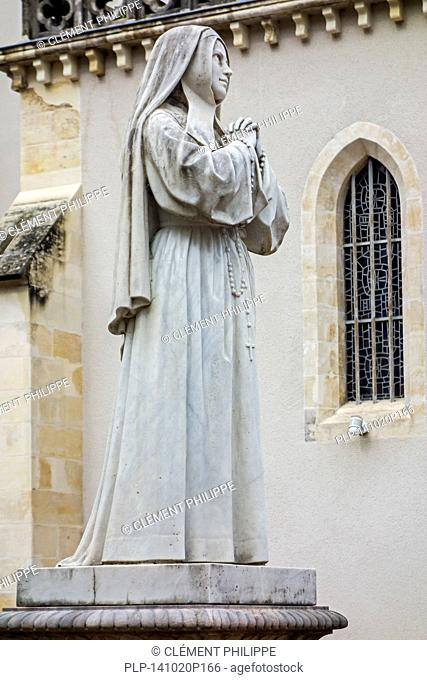 Statue of Bernadette Soubirous in the Espace Bernadette Soubirous at Nevers, Burgundy, France