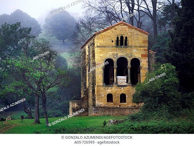 Santa Maria del Naranco Asturian pre-Romanesque church, Oviedo. Asturias, Spain