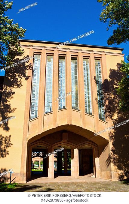 Grassi museums, art deco architecture, Johannisplatz, Leipzig, Saxony, Germany