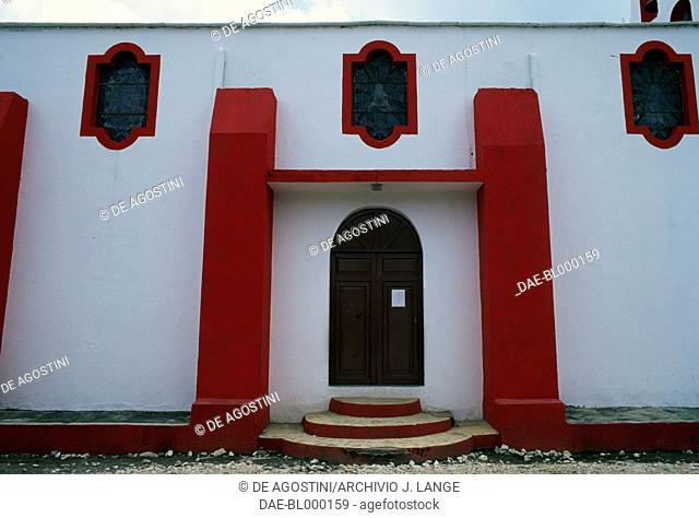 Entrance of a church in Xico, Veracruz, Mexico