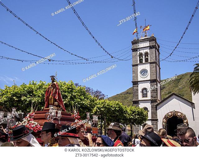 Romeria de Tegueste, traditional street party, Tegueste, Tenerife Island, Canary Islands, Spain