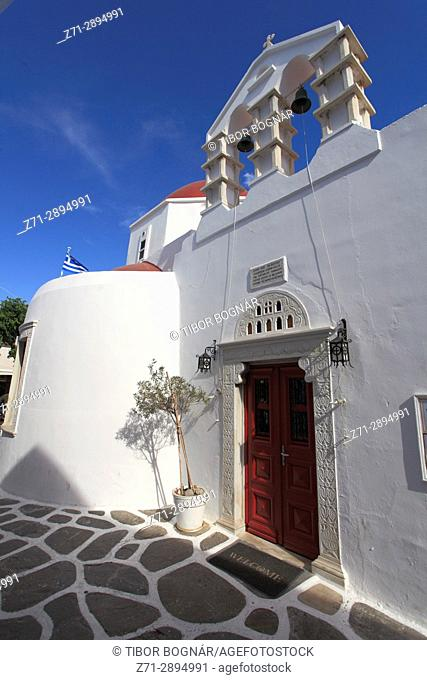Greece, Cyclades, Mykonos, Metropolitan Church,