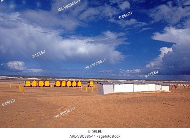 Belgium,cabins on the beach