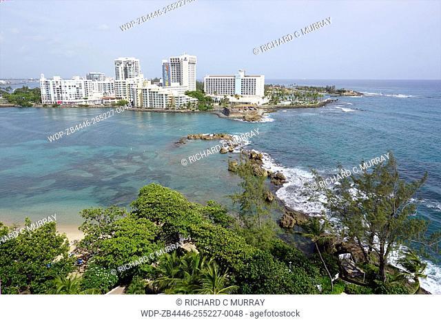 The Condado Plaza Hilton hotel Barrier Reef Condado Lagoon Atlantic Ocean-San Juan, Puerto Rico