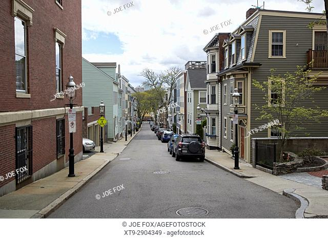 soley street leading down from breeds hill charlestown Boston USA