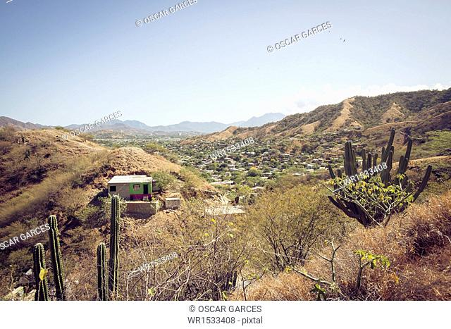 Panoramic of the City of Santa Marta, Magdalena, Colombia
