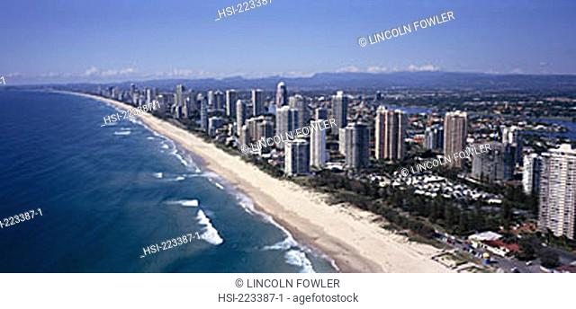 Australia, Queensland, Gold Coast, Surfers Paradise, aerial view, building, city, city overview, architecture, high-rise, structure