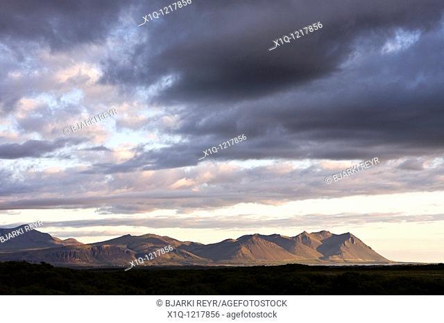 Hafnarfjall and Skardsheidi mountains, Borgarfjordur, Southwest Iceland