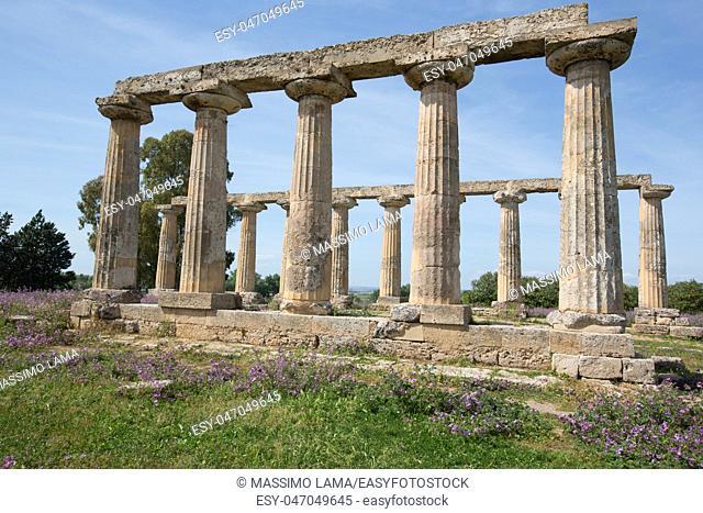 Palatine Tables, Hera Sanctuary in Metaponto, Basilicata, Italy