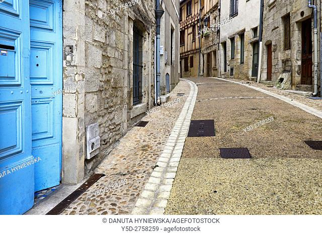 Rue Mignot, Mignot street, old town of Périgueux, UNESCO, World Heritage Sites of the Routes of Santiago de Compostela in France, Dordogne, Aquitaine, France