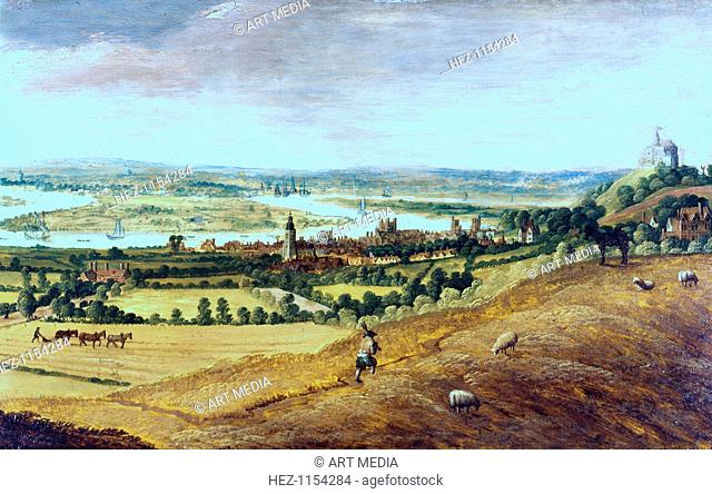 'The Environs of London from Greenwich', c1620-1630. From the Museum of London