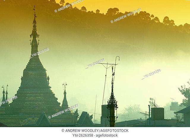 Hill station Kalaw at dawn Shan State Burma Myanmar
