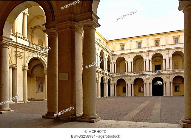 courtyard of Palazzo Ducale, Italy, Emilia Romagna, Modena