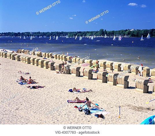 DEUTSCHLAND, BERLIN, WANNSEE, 21.06.1999, D-Berlin, Spree, Capital of Germany, D-Berlin-Wannsee, Grosser Wannsee, Greater Wannsee, Havel, Havel bight, Havel bay