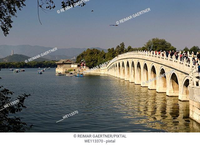 17 Arch bridge to South Lake Island on Kunming Lake Summer Palace Beijing