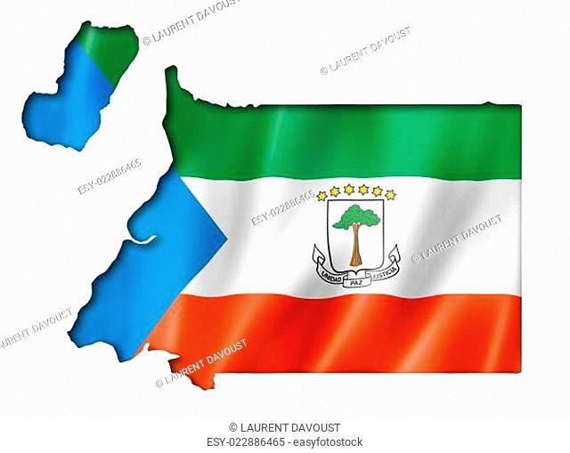 Equatorial Guinea flag map