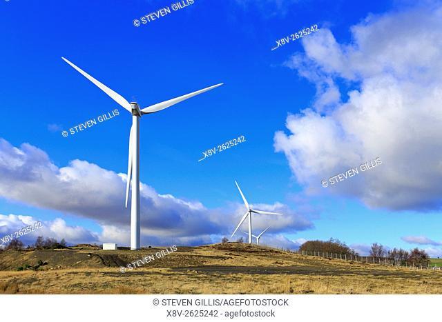 Hazlehead wind farm near Penistone, Barnsley, South Yorkshire, England, UK
