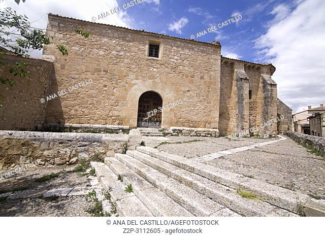 Maderuelo is an ancient village in Segovia province Castile Leon Spain. St Miguel church