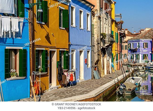 Colourful Street, Burano Island, Veneto, Italy