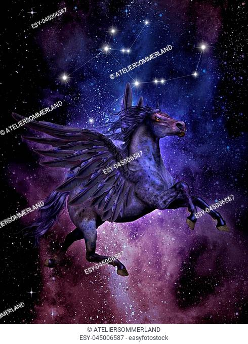Constellation of pegasus Stock Photos and Images | age fotostock
