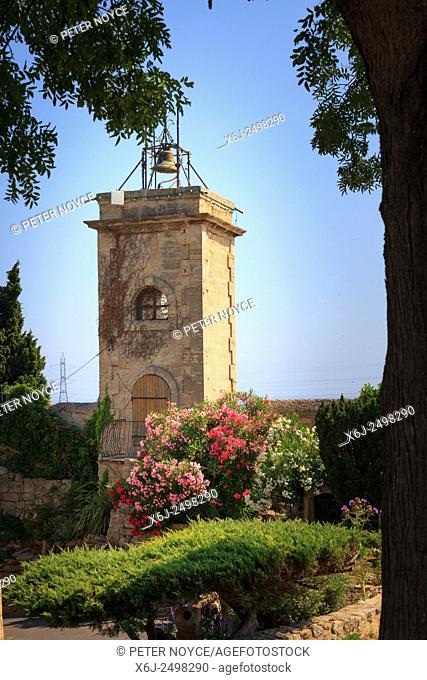 Old bell tower at Fos-sur-Mer in France