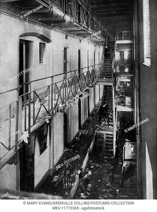 Police barracks and prison captured by revolutionaries, Petrograd (St Petersburg), Russia, after a life and death struggle