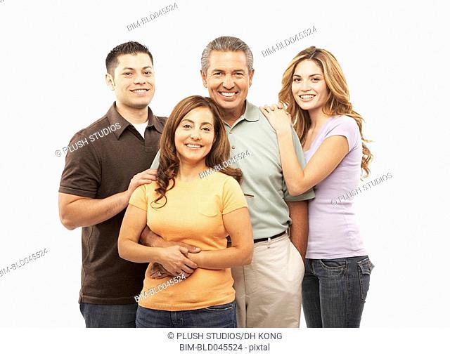 Portrait of Hispanic family