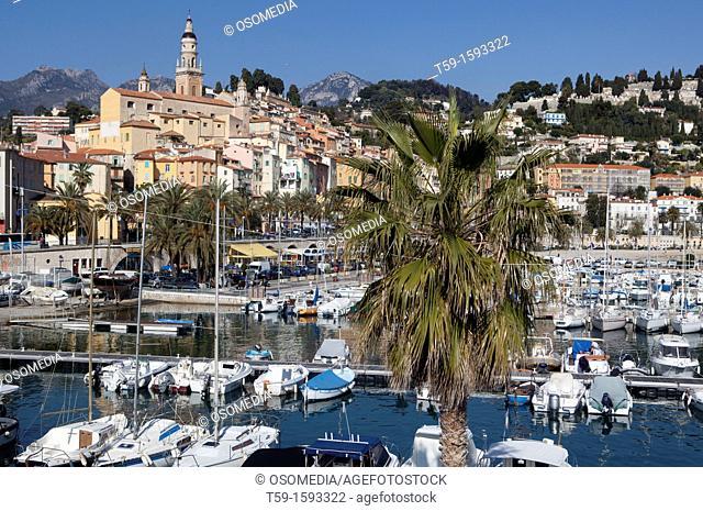 Menton at french cote d Azur, France