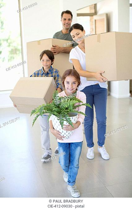 Family moving into new house