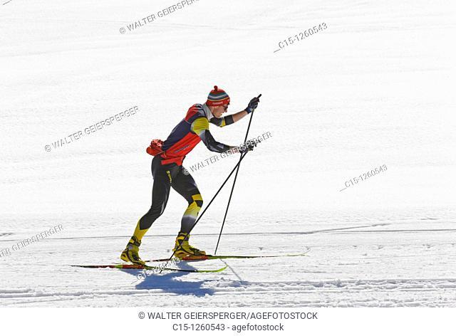 Man at cross-country skiing