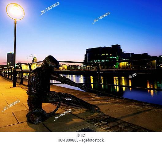 Dublin Sculpture, The Docker, City Quay, Dublin, Ireland