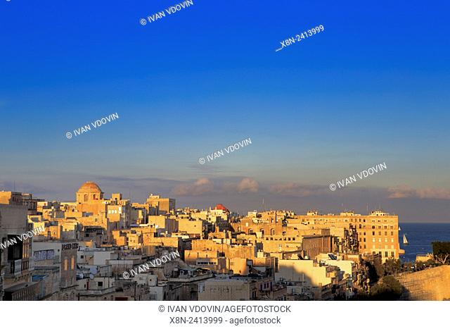 La Valletta, view from Upper Barracca gardens, Malta