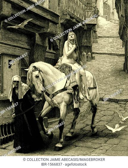 Lady Godiva, historical illustration from 1865