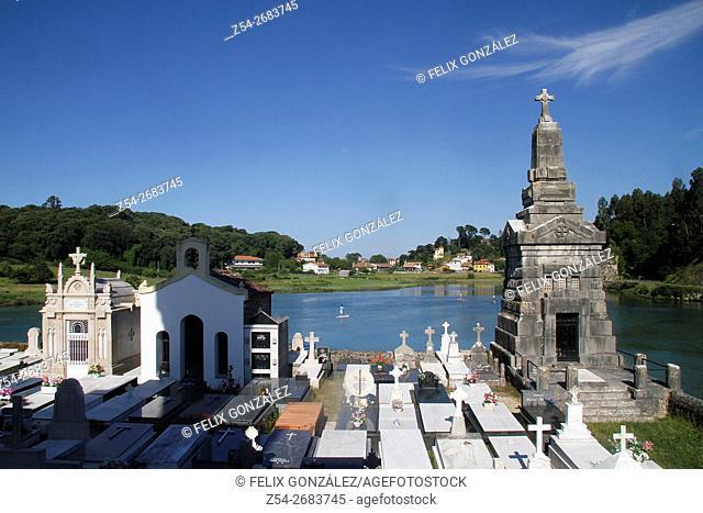 Marine Cemetery at Niembro, LLanes, Asturias, Spain
