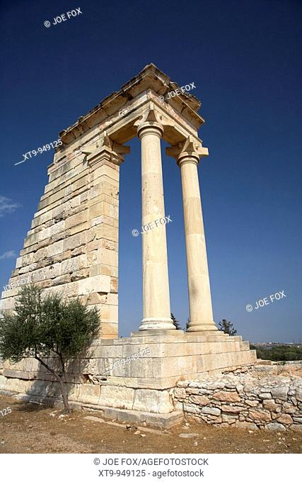 temple of apollo hylates in the sanctuary of apollon ylatis at kourion archeological site republic of cyprus europe