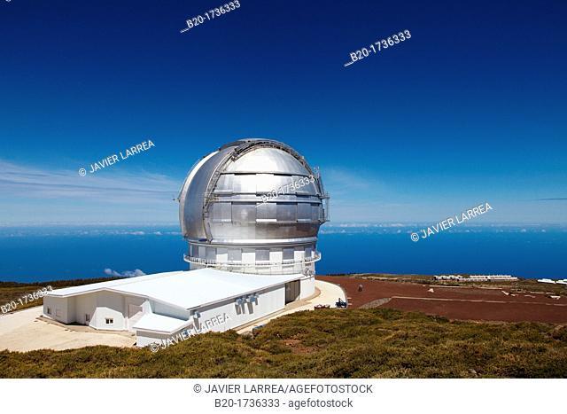 The Gran Telescopio CANARIAS GTC, Roque de los Muchachos Observatory, La Palma, Canary Islands, Spain   The Gran Telescopio CANARIAS GTC is a 10