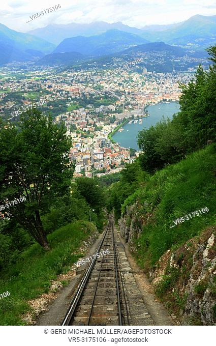 South Switzerland: The Cable Car to mount San Salvadore at Lugano -City