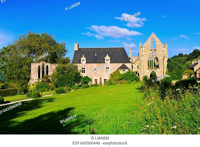 Abbaye de Beauport in Paimpol, Brittany in France