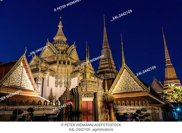 Wat Pho, Temple of the Reclining Buddha in Bangkok, Thailand, Asia