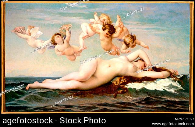 The Birth of Venus. Artist: Alexandre Cabanel (French, Montpellier 1823-1889 Paris); Date: 1875; Medium: Oil on canvas; Dimensions: 41 3/4 x 71 7/8 in