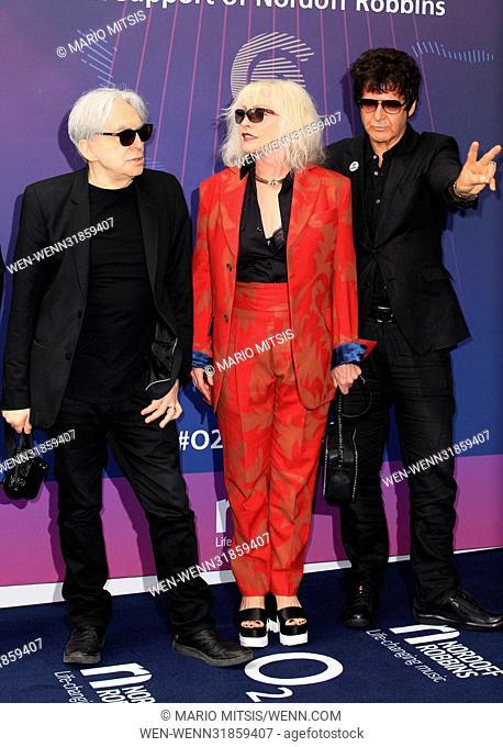 The O2 Silver Clef Awards held at the Grosvenor House Hotel, Park Lane - Arrivals Featuring: Blondie, Debbie Harry, Deborah Harry, Chris Stein