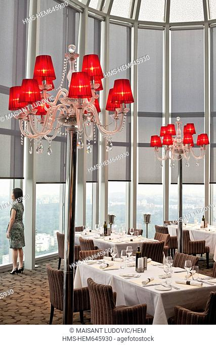 Singapore, Orchard Road, 55th floor of ION Orchard, restaurant Salt Grill by Australian chef Luke Mangan, opened in 2010