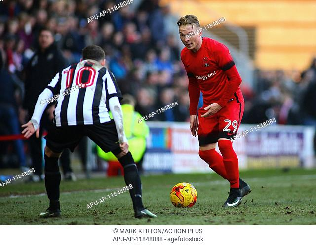 2017 Skybet League 2 football Leyton Orient v Notts County Feb 18th. February 18th 2017, Matchroom Stadium, Leyton, London, England, Skybet Division 2 football