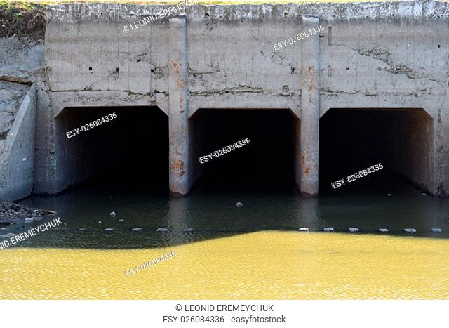 Lock of the channel of irrigating system. Agricultural constructions