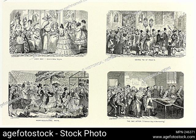 Lady Day - Old & New Style from George Cruikshank's Steel Etchings to The Comic Almanacks: 1835-1853 (top left) - 1845, printed c