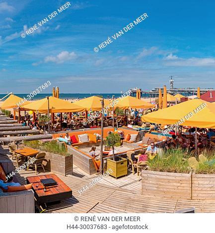 Beach cafe, pier
