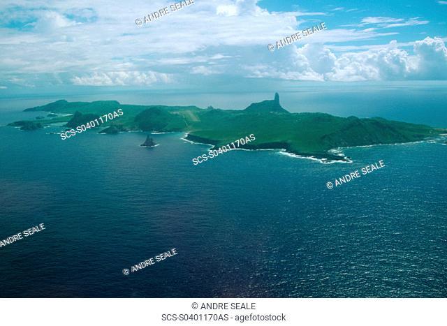 Aerial view of Fernando de Noronha archipelago, Pernambuco, Brazil South Atlantic