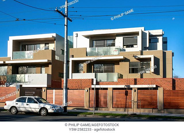 Newly-completed (2015) apartments in Hawthorn Road, Caulfield, Melbourne